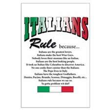Italians Rules Large Poster