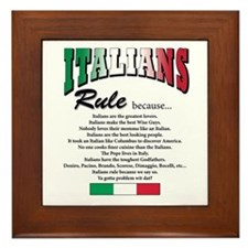 Italians Rules Framed Tile
