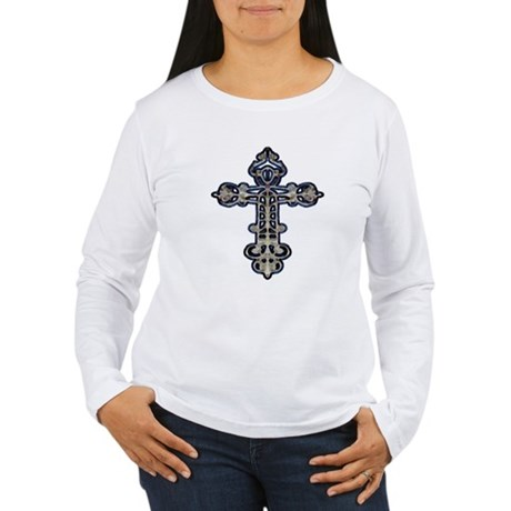 Ornate Cross Women's Long Sleeve T-Shirt