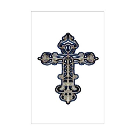 Ornate Cross Mini Poster Print
