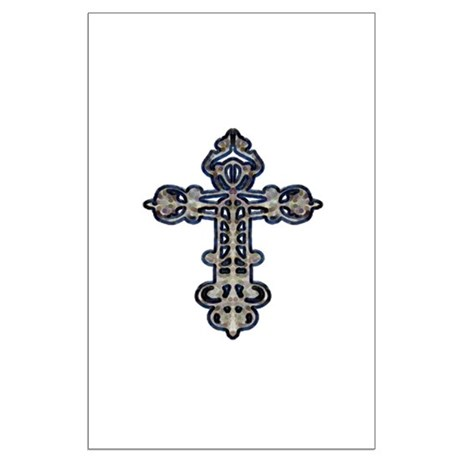 Ornate Cross Large Poster