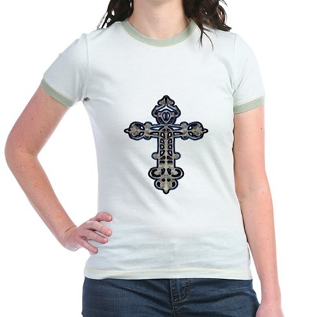 Ornate Cross Jr. Ringer T-Shirt