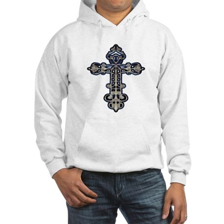 Ornate Cross Hooded Sweatshirt