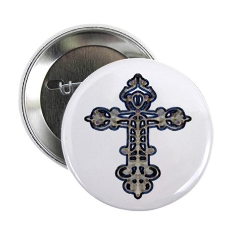"Ornate Cross 2.25"" Button (10 pack)"