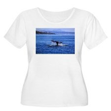 Gray Whale Point Loma Plus Size T-Shirt