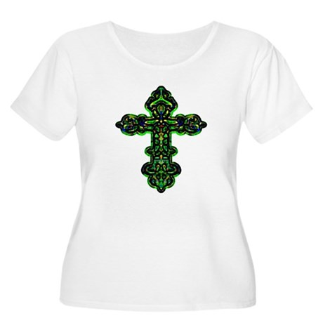 Ornate Cross Women's Plus Size Scoop Neck T-Shirt