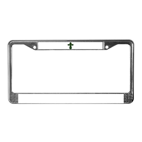 Ornate Cross License Plate Frame