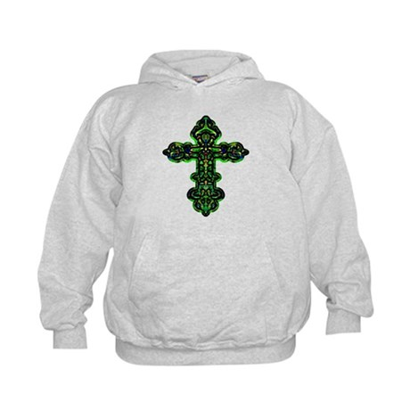 Ornate Cross Kids Hoodie