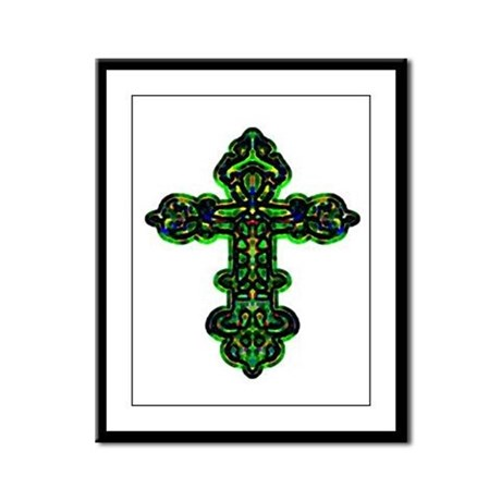 Ornate Cross Framed Panel Print