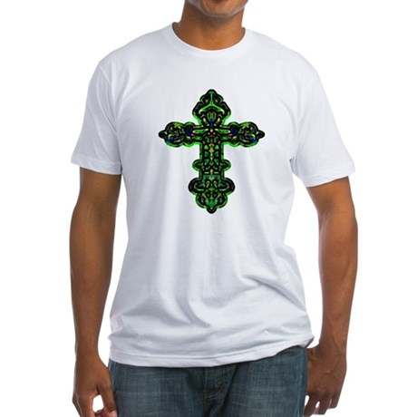 Ornate Cross Fitted T-Shirt
