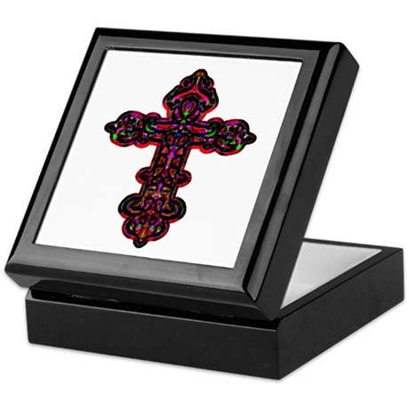 Ornate Cross Keepsake Box