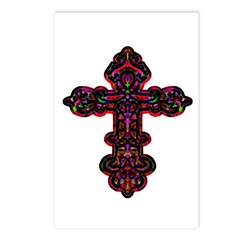 Ornate Cross Postcards (Package of 8)