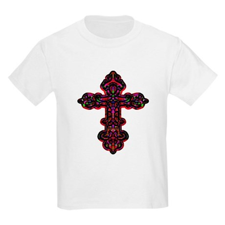 Ornate Cross Kids Light T-Shirt