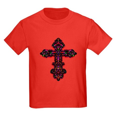 Ornate Cross Kids Dark T-Shirt