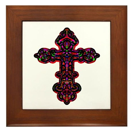 Ornate Cross Framed Tile