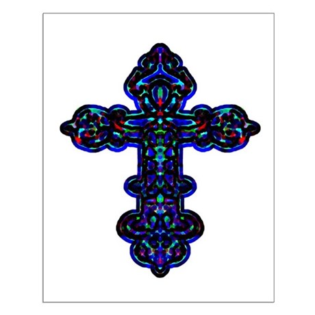 Ornate Cross Small Poster