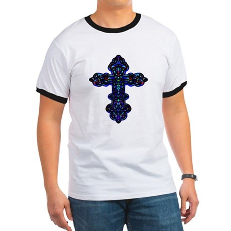 Ornate Cross Ringer T