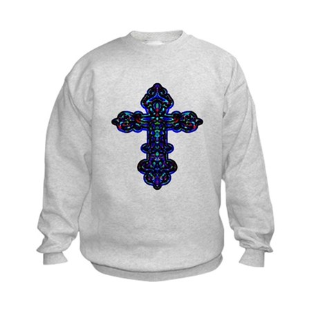 Ornate Cross Kids Sweatshirt