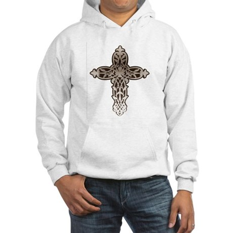 Victorian Cross Hooded Sweatshirt