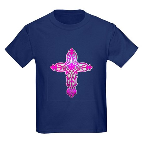 Victorian Cross Kids Dark T-Shirt