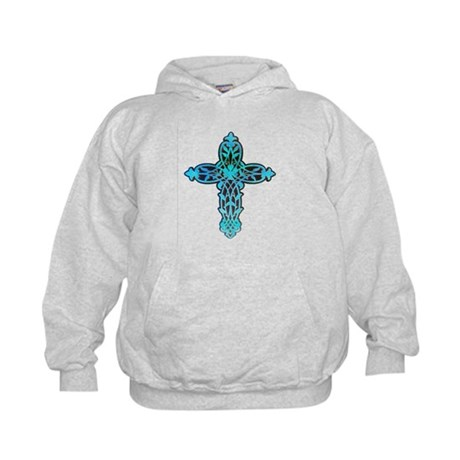 Victorian Cross Kids Hoodie