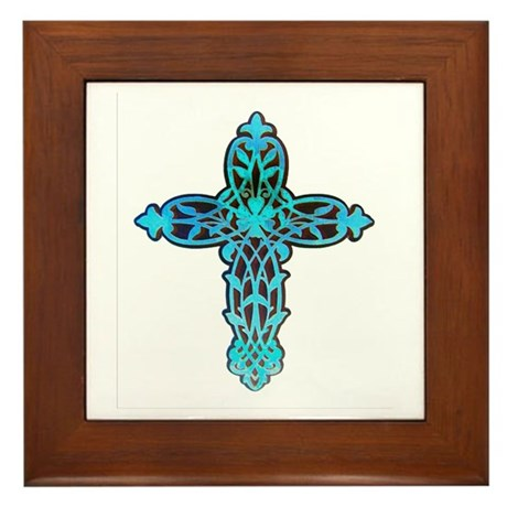 Victorian Cross Framed Tile
