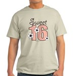 Sweet 16 Sixteenth Birthday Pink Brown T-Shirt