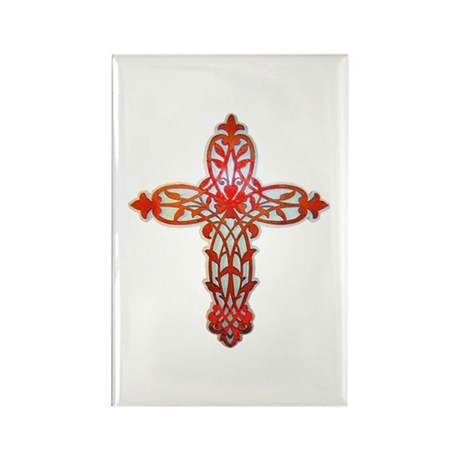 Victorian Cross Rectangle Magnet