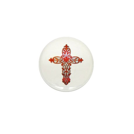 Victorian Cross Mini Button