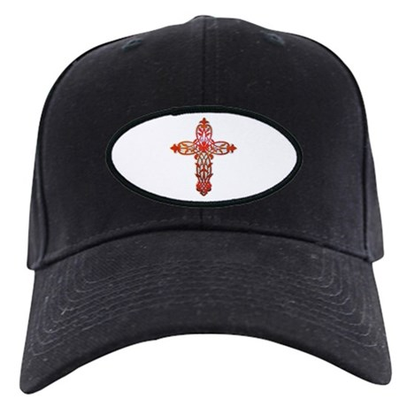 Victorian Cross Black Cap