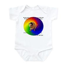 """""""Black Elk Message"""" Infant Bodysuit"""