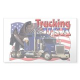 Trucking USA Rectangle Decal