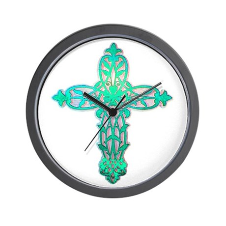 Victorian Cross Wall Clock