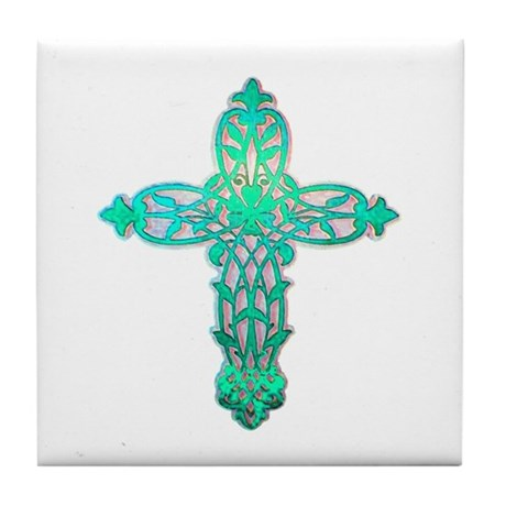 Victorian Cross Tile Coaster