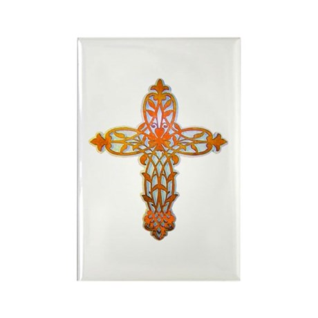 Victorian Cross Rectangle Magnet (10 pack)