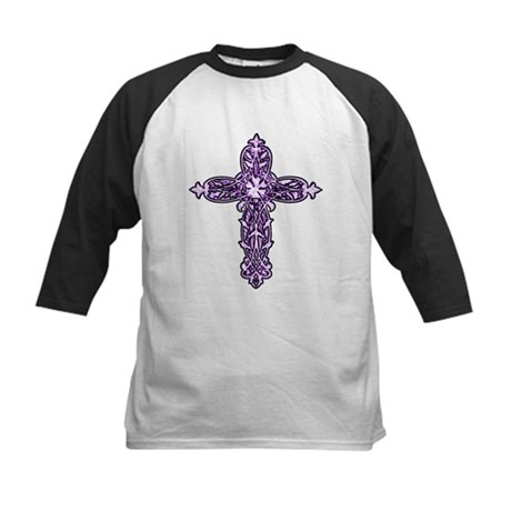 Victorian Cross Kids Baseball Jersey