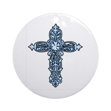 Victorian Cross Ornament (Round)