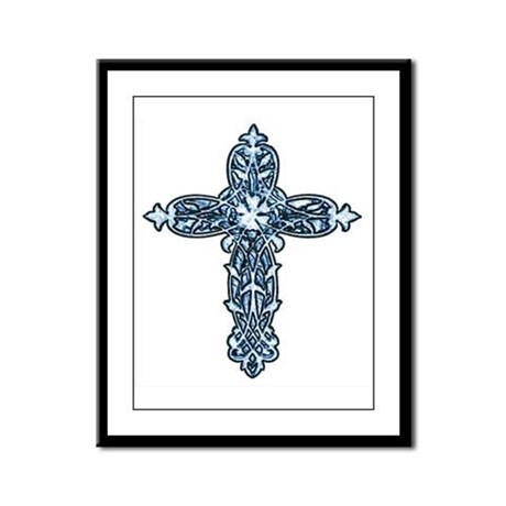 Victorian Cross Framed Panel Print