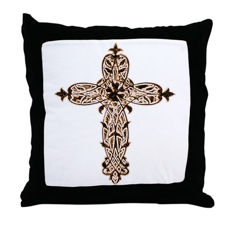 Victorian Cross Throw Pillow