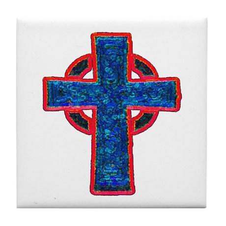 Celtic Cross Tile Coaster