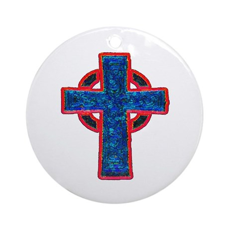 Celtic Cross Ornament (Round)