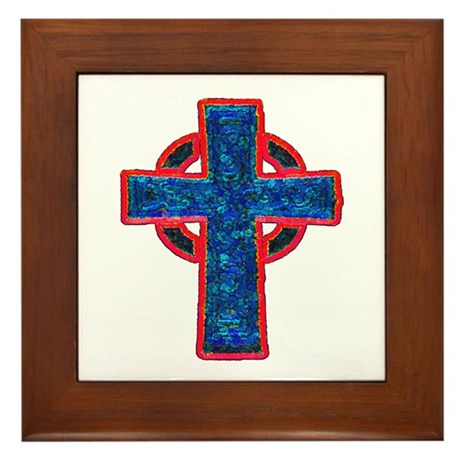 Celtic Cross Framed Tile