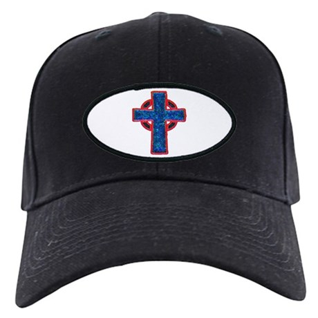Celtic Cross Black Cap
