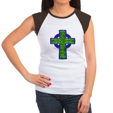 Celtic Cross Women's Cap Sleeve T-Shirt