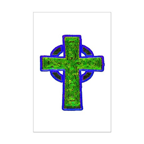 Celtic Cross Mini Poster Print