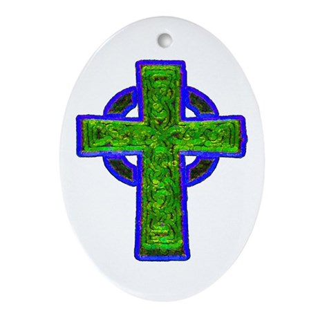 Celtic Cross Oval Ornament
