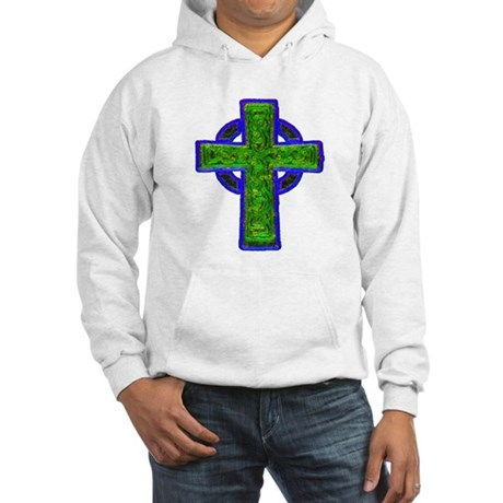 Celtic Cross Hooded Sweatshirt