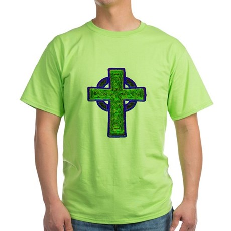 Celtic Cross Green T-Shirt