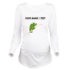 Custom Cartoon Chameleon Long Sleeve Maternity T-S