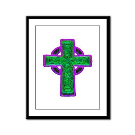 Celtic Cross Framed Panel Print